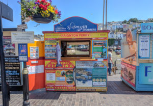 Our Brixham Information Kiosk - Halfway Between The Golden Hind Ship and Rockfish Restaurant